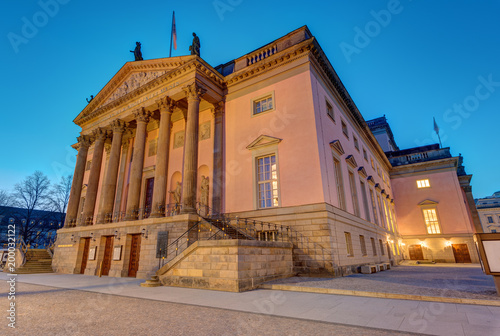 Recess Fitting Theater The Berlin State opera at the Unter den Linden boulevard at dawn