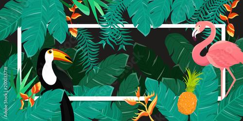 tlo-tropikalnych-kwiatow-letni-projekt-wektor