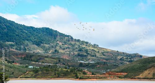 In de dag Groen blauw Mountain scenery of Dalat, Vietnam
