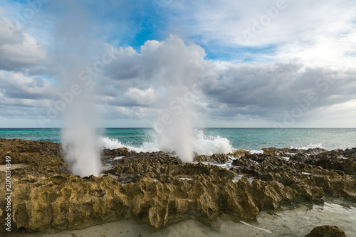 Valokuva  Blowholes on the Caribbean side of Cozumel