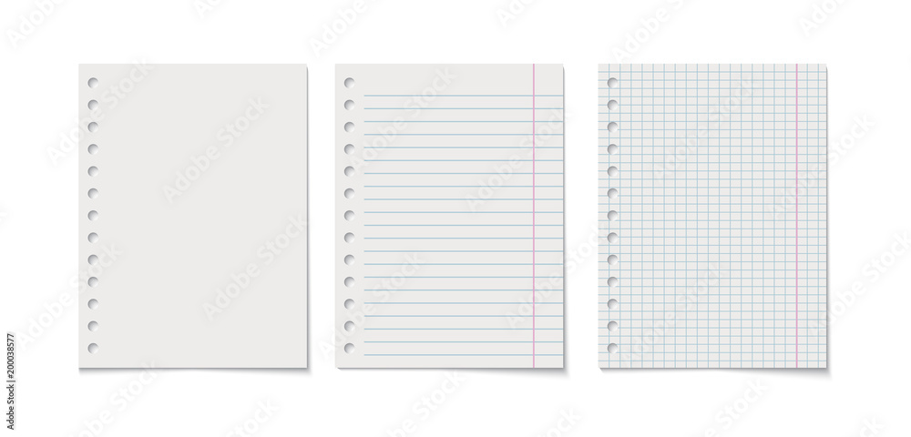 Fototapety, obrazy: Paper sheet vector realistic illustration