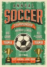 Soccer Typographical Vintage G...