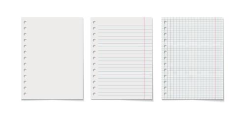 Fototapeta Paper sheet vector realistic illustration