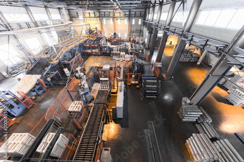 Obraz Manufacturing factory, wide-focus lens - fototapety do salonu
