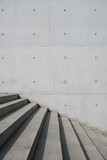 Fototapeta Na drzwi - stairs outdoor and exposed concrete wall background - stairway, building exterior