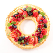 Fruit Tart With Cream