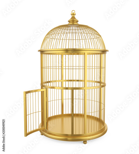 Photo  Birdcage Isolated