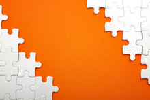 Jigsaw Puzzle Pieces And Busin...