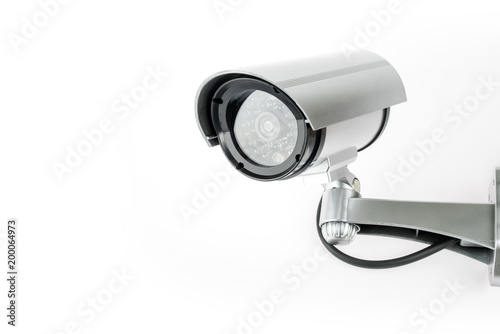 CCTV camera isolated on white background.