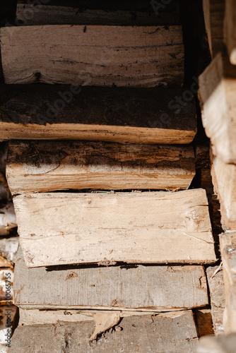 Foto op Plexiglas Brandhout textuur seasoned firewood