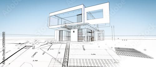 szkic-nowoczesnego-domu-architekta
