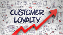 Customer Loyalty Drawn On Whit...