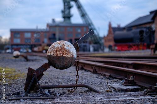 Weiche einer Gleisanlage