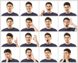 Set of emotional expressions