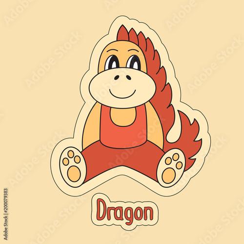 Fotografia  Dragon, cartoon symbol of the Chinese horoscope 2024 year