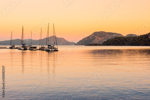 Boat in Aegean Sea. Bodrum Mugla, Turkey