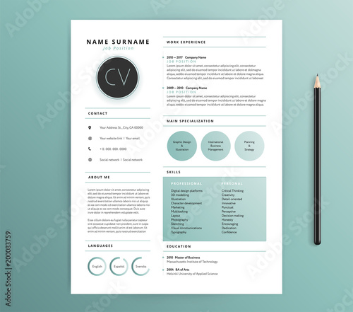 resume    cv template design