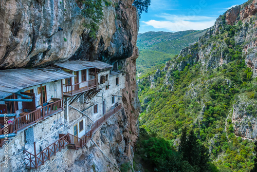 Photo Prodromos monastery in Arcadia prefecture in Peloponnese Greece