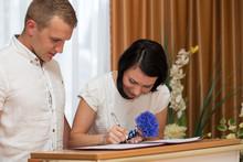 Groom And Bride In The Registr...