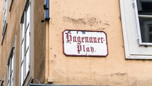 Hagenauer Platz (Hagenau Square) Tablet On The House Where Sigismund Ritter Von Neukomm Was Born. It Is Probably One Of Most Famous Squares In Salzburg. Mozart Birthplace Actually Located Here