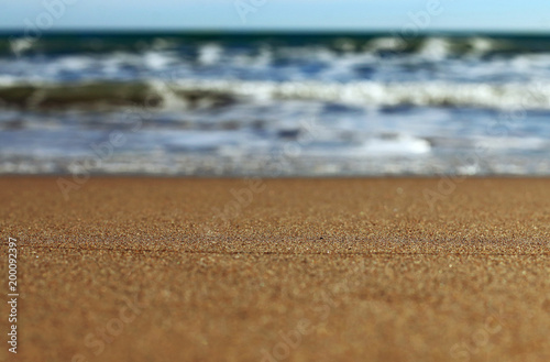 Deurstickers Zalm Shore of the Mediterranean Sea