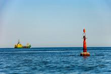 Navigation Buoy At The Edge Of...