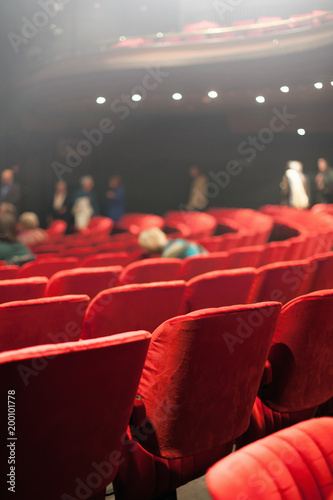 Deurstickers Theater red velvet theater sets