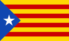 Catalonia Flag. Independence Symbol. Blue Estelada. Vector Illustration.