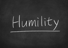 Humility Concept Word On A Blackboard Background