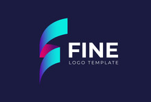 Letter F Logo Icon Design Template. Technology Abstract Vector Logotype