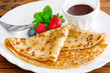 French pancake - Crepe and chocolate