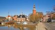Leinwanddruck Bild - Leer Rathaus Ostfriesland