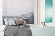 Grey simple bedroom interior