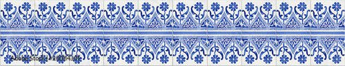 Fotografía  Typical Portuguese decorations with colored ceramic tiles - seamless texture