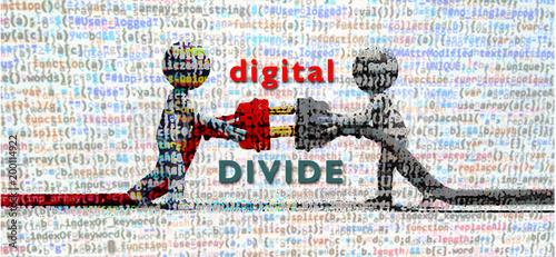 digital divide Canvas Print