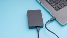 Black External Hard Disk Conne...