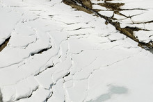 Crevasse In The Snow And Ice, ...