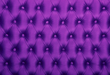 Violet Capitone Tufted Fabric Upholstery Texture