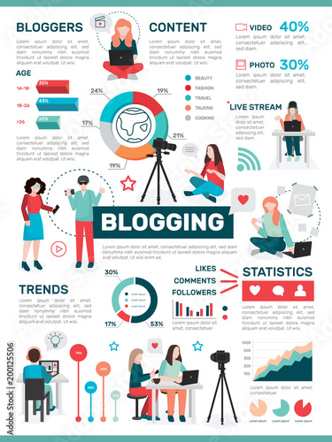Sports shop Blogging Media Activity Infographics