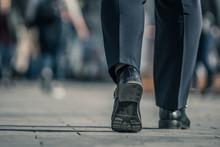 Man Walking Close Up