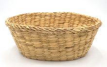 Vintage Empty Weave Wicker Bas...