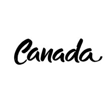Canada. Ink Hand Lettering. Modern Brush Calligraphy. Handwritten Phrase. Inspiration Graphic Design Typography Element.