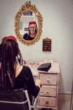 Female Hairdresser In Dreadloc...