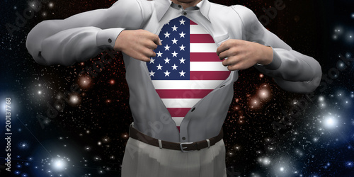 USA Man Poster