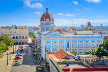 Aerial View Of The Central Square Of The Cuban City