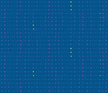 Geometric Wavy Lines Of Dots, ...