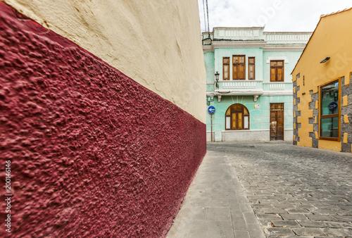 Deurstickers Canarische Eilanden colorful street in Santa Brigida ,Gran Canaria, Canary Islands