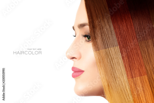 Fotografía  Colored hair concept. Beauty model with colorful dyed hair