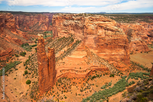 Staande foto Arizona Aerial view of the famous Spider Rock butte in the Canyon de Chelly, Chinle, Arizona