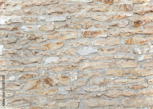 In de dag Stenen Alte vintage Steinmauer aus rustikalen Steinen